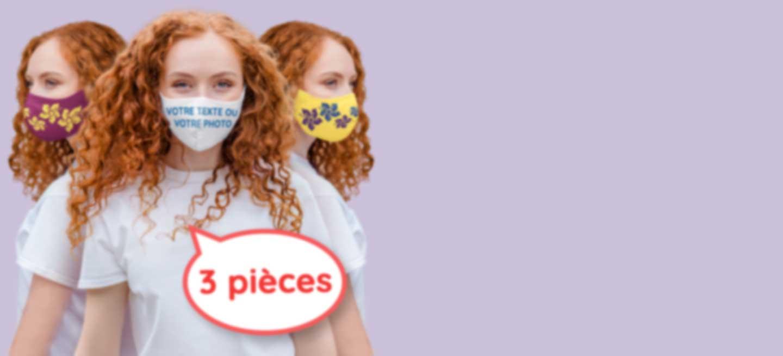 Femme avec un masque alternatif personnalisé
